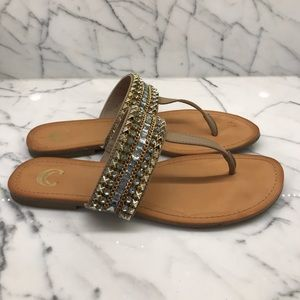 Charming Charlie blue heel tone sandals